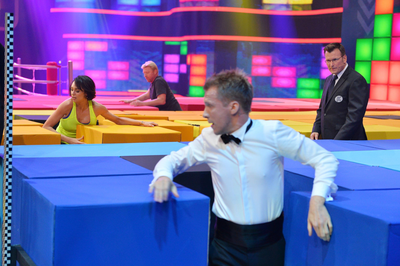Becker gegen Pocher - Oliver Pocher beim Spiel Blockade