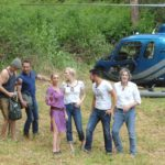 Dschungelcamp 2014 - Tag 1 - HUbschrauber setzt die ersten sechs Kandidaten im Dschungel ab