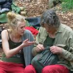 Dschungelcamp 2014 - Tag 1 - Larissa Marolt und Winfried Glatzeder