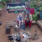 Dschungelcamp Tag 10 - Larissa und Winfried am Lagerfeuer