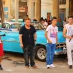 DSDS 2014 Recall Kuba – Marc Aurel Zeeb, David Petre, Angelo Bugday, Burak Külekci, Menderes Bagci, Ryan Stecken und Tanja Tischewitsch