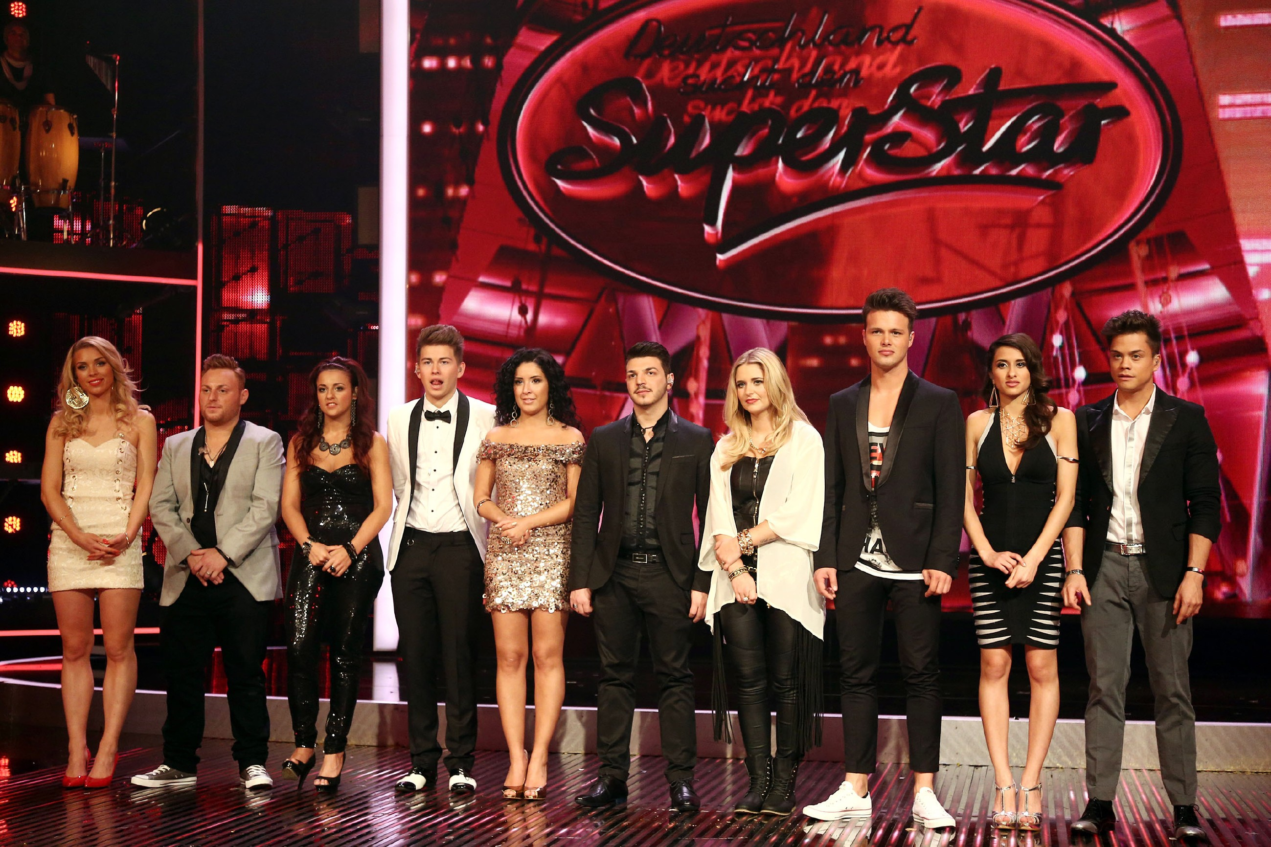 DSDS 2014 Liveshow 2 -Die Top-10 am Anfang der Show
