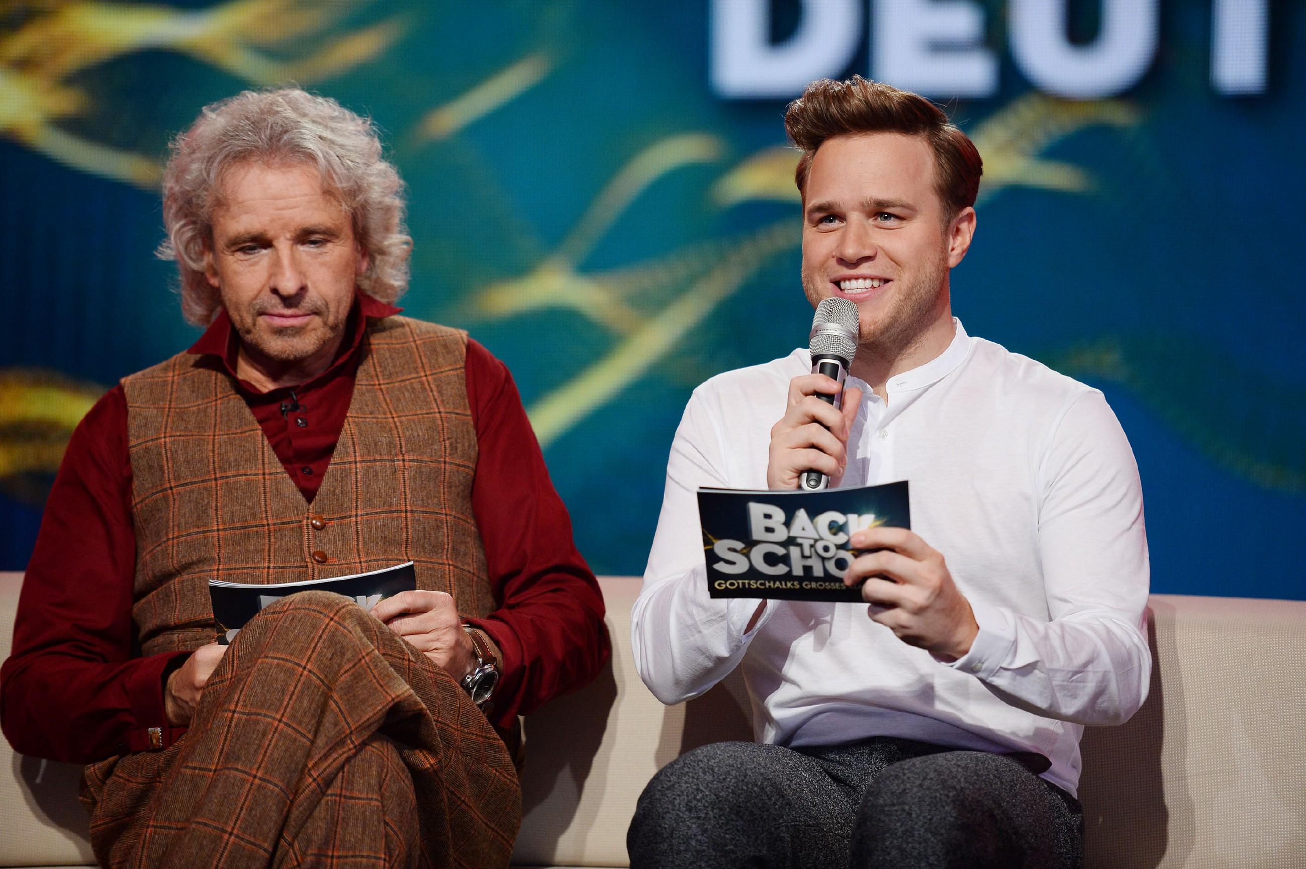 Back To School Thomas Gottschalk Und Olly Murs Stars On Tv
