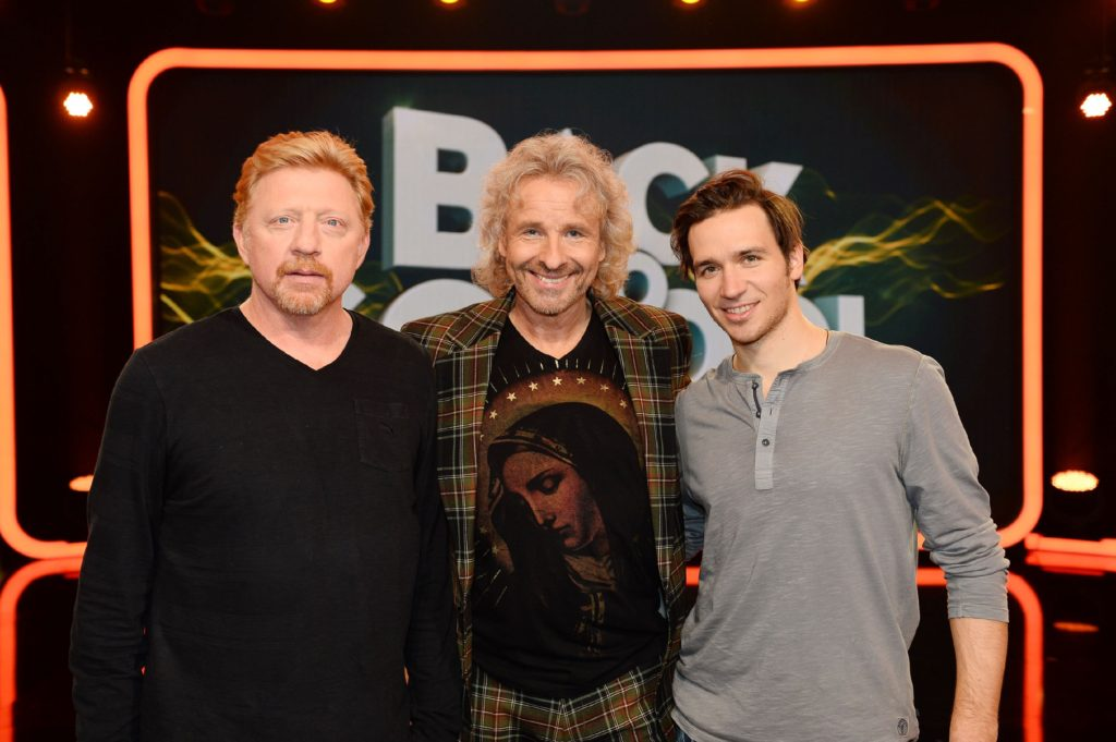 """Boris Becker und Felix Neureuther bei """"Back To School"""""""