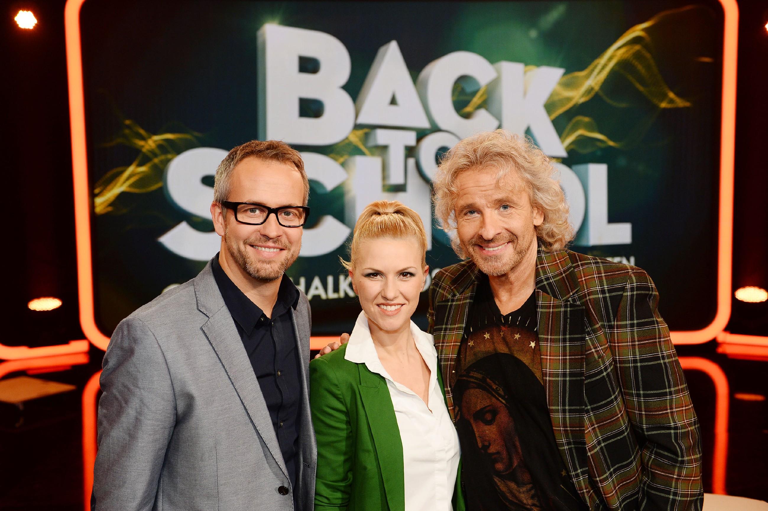 Back To School Thomas Gottschalk Mit Saskia Voortmann Und Tom