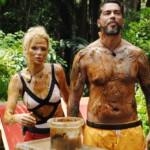 Dschungelcamp 2015 Dschungelprüfung 1 - Sara schmiert Aurelio ein