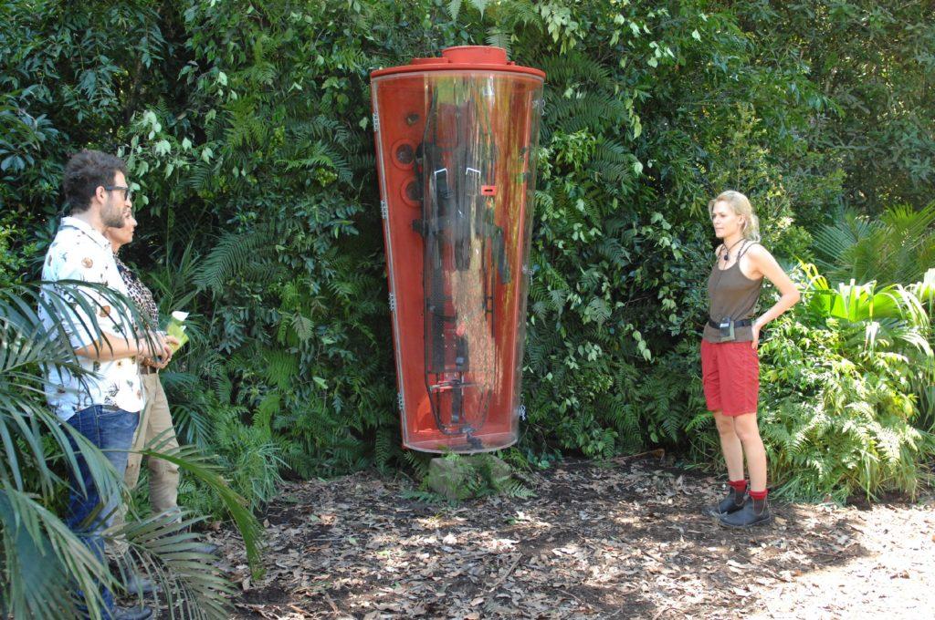"""Dschungelprüfung 3 """"Schabenfreude"""": Böses Erwachen für Sara Kulka (24) am dritten Tag im Dschungelcamp."""