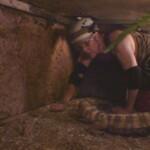 Dschungelcamp 2015 Dschungelprüfung 11 - Rolfe mit einem Waran