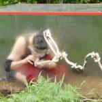 Dschungelcamp 2015 Dschungelprüfung 13 - Rolfe befreit Stern aus Tunnel