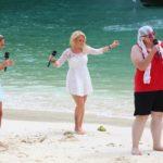 DSDS 2015 Recall - Katarina Durdevic, Seraphina Ueberholz und Chica Susi Unique am Strand