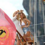 DSDS 2015 - Seraphina Ueberholz und Juna Manaj auf der Segelyacht