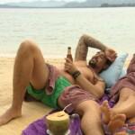 Die Bachelorette 2015 Halbfinale - Alisa und Patrick am Strand