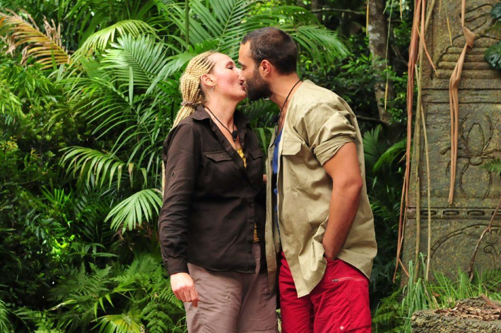 Helena Fürst und David Ortega bei ihrem Dschungelduell