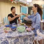 Der Bachelor 2016 Folge 2 – Leonard und Denise beim Essen