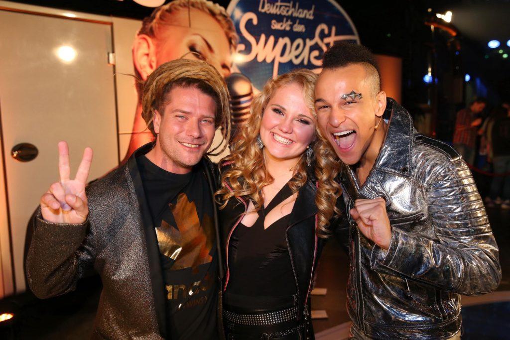Die Zuschauer haben entschieden. Thomas Katrozan (l.), Laura van den Elzen und Prince Damien sind im Finale am 7. Mai 2016.