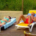 Das Sommerhaus 2016 Finale - Alexandra und Thorsten Legat sonnen sich