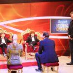 Das große Erziehungsexperiment - Max, Janine Kunze, Louis, Thomas Heinze und Moderator Oliver Geissen