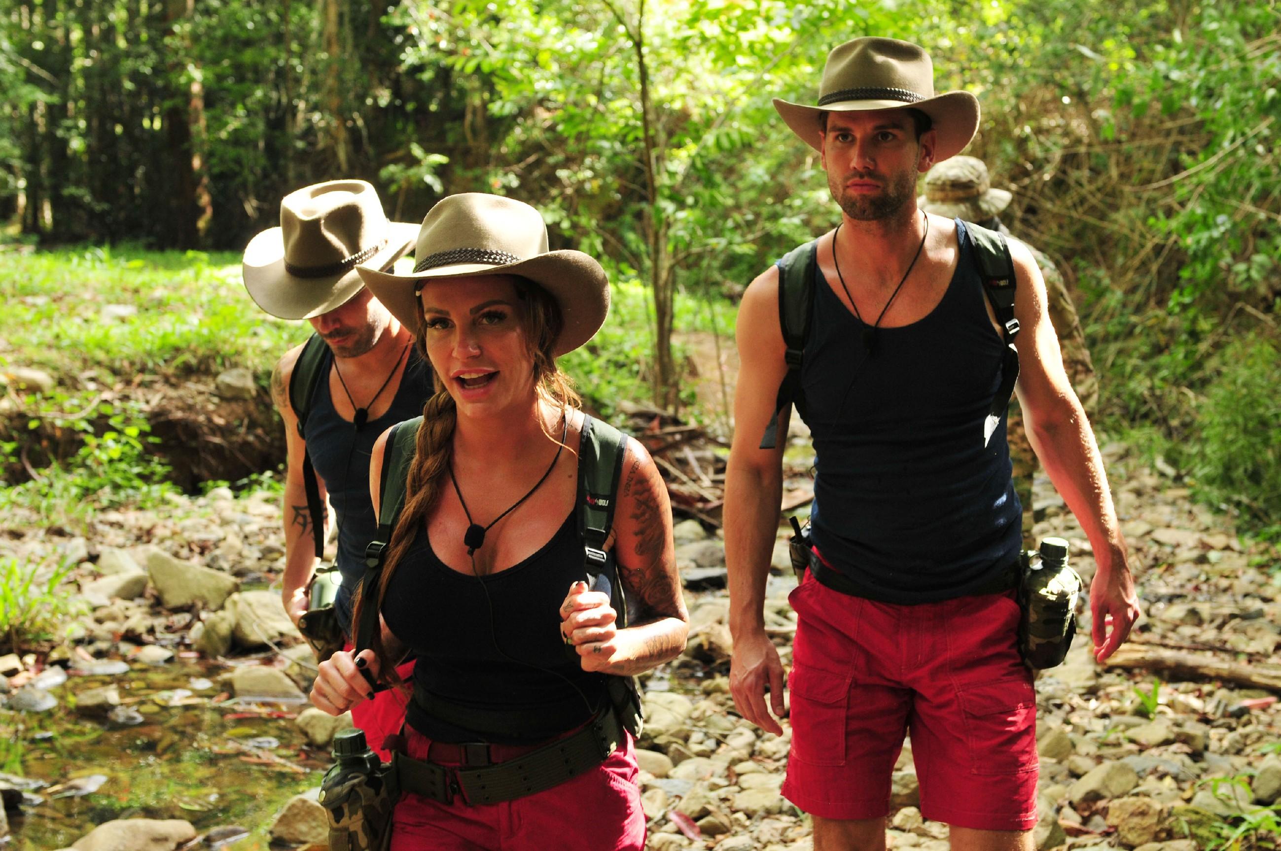 Dschungelcamp 2017 Einzug - Marc Terenzi, Gina-Lisa Lohfink und Alexander Honey Keen