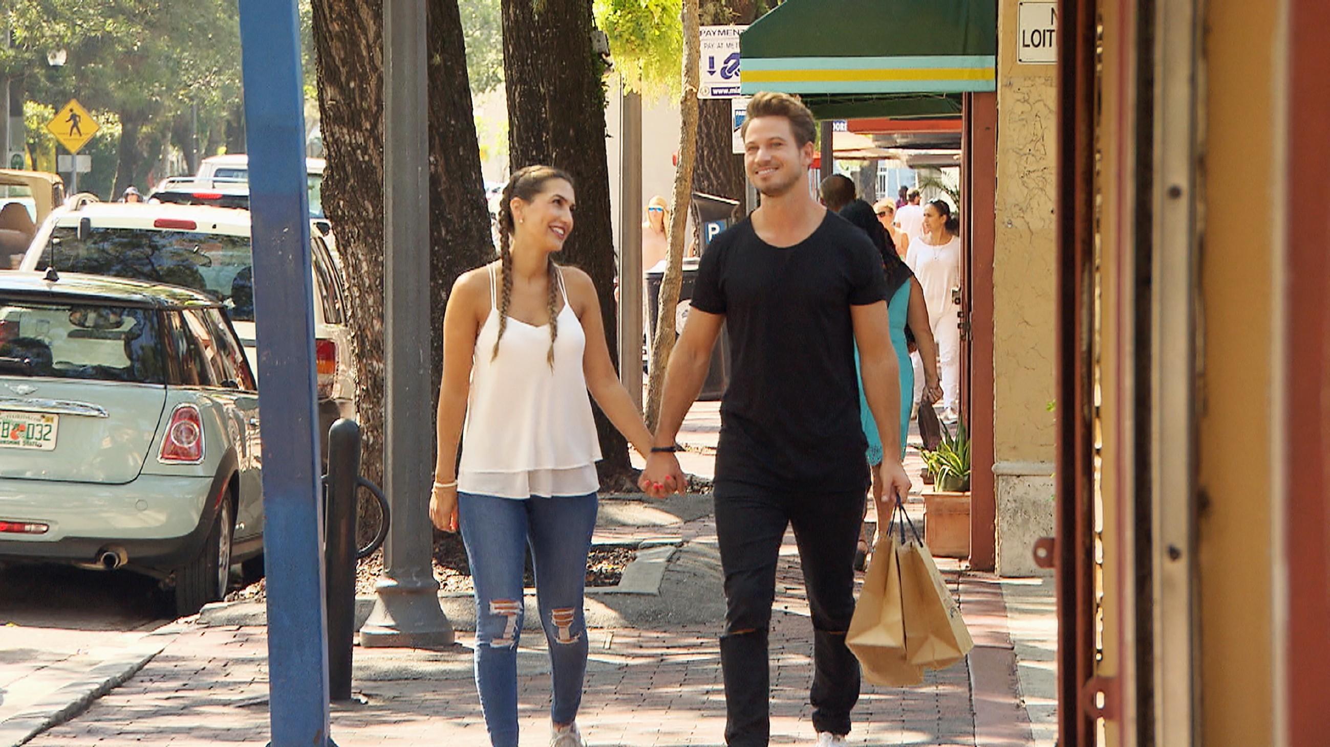Der Bachelor 2017 - Sebastian und Clea-Lacy bei ihrem Date