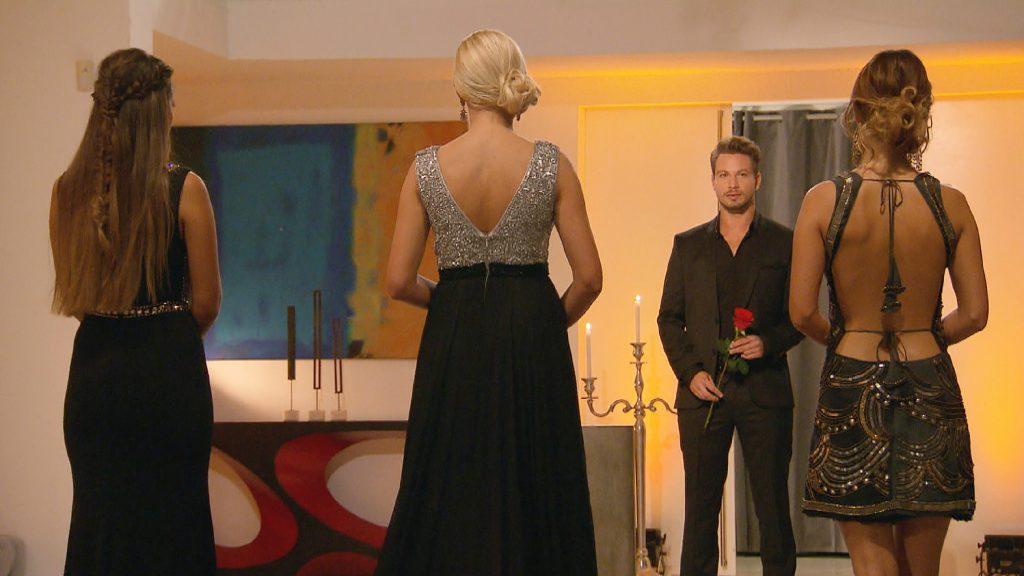 Wen wird Sebastian mit der Rose glücklich machen: Clea-Lacy, Erika oder Viola?