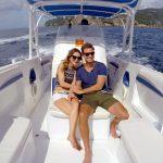 Der Bachelor 2017 - Sebastian und Viola bei einer Boots-Tour