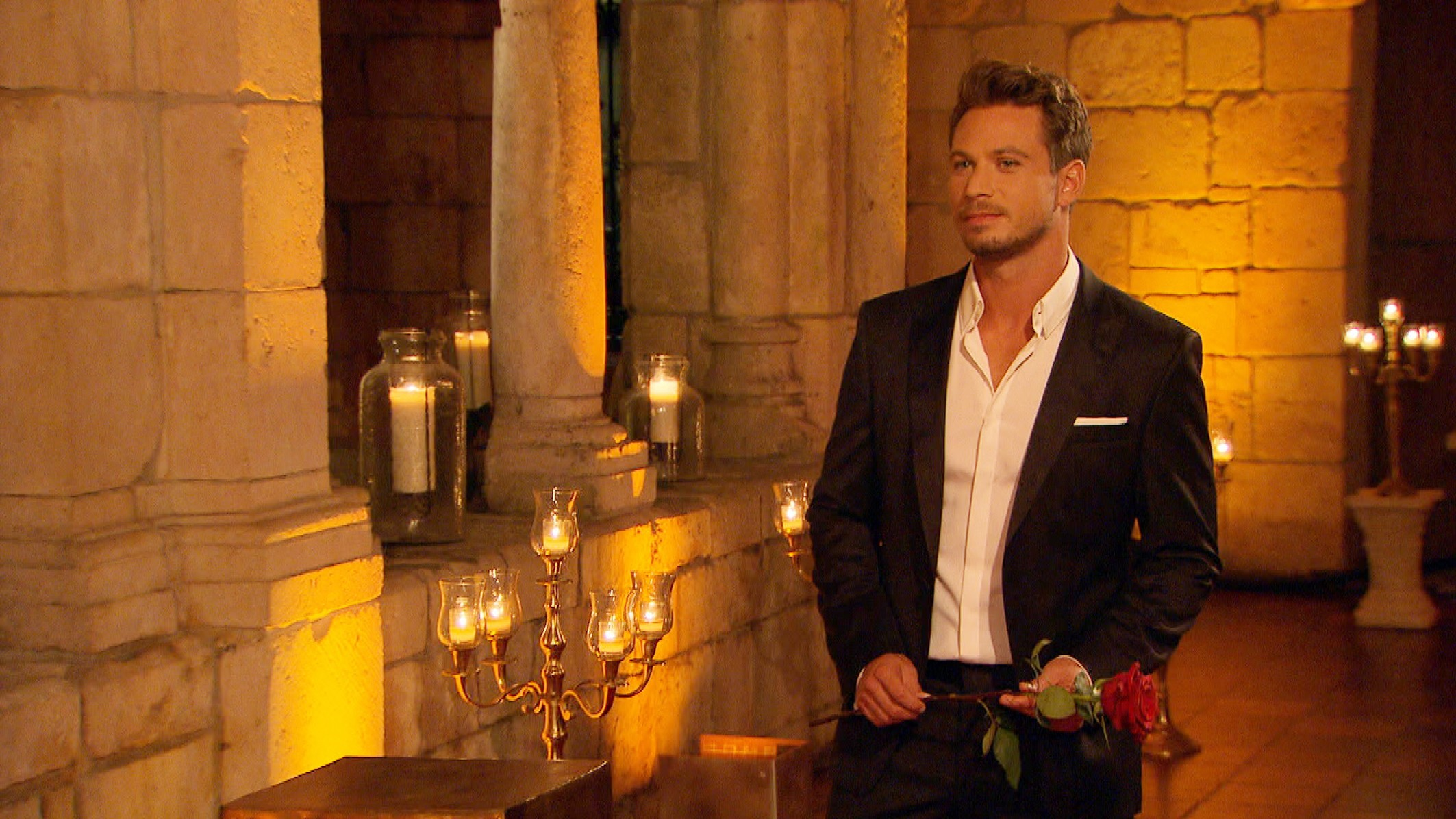 Der Bachelor Finale 2017 - Sebastian bei der letzten Nacht der Rosen