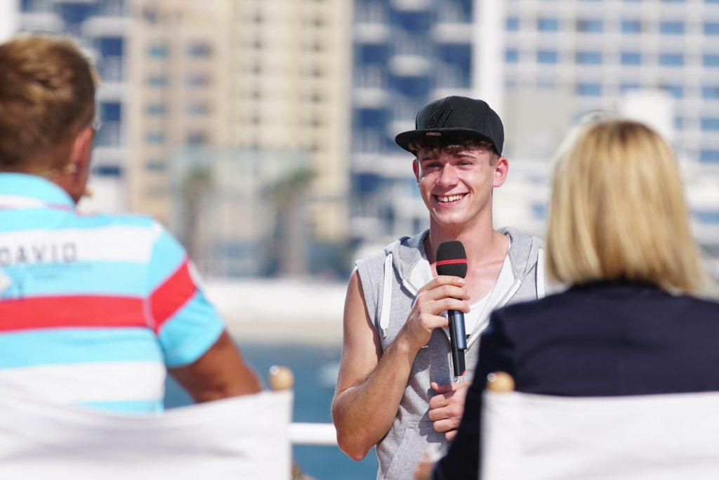Benjamin Timon Donndorf aus Hagen ist einer der neuen Jury-Casting-Kandidaten, den Herausforderern, die versuchen die Jury von sich zu überzeugen.