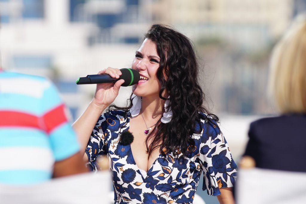 Angelika Ewa Turo aus Duisburg ist eine der neuen Jury-Casting-Kandidaten, den Herausforderern, die versuchen die Jury von sich zu überzeugen.