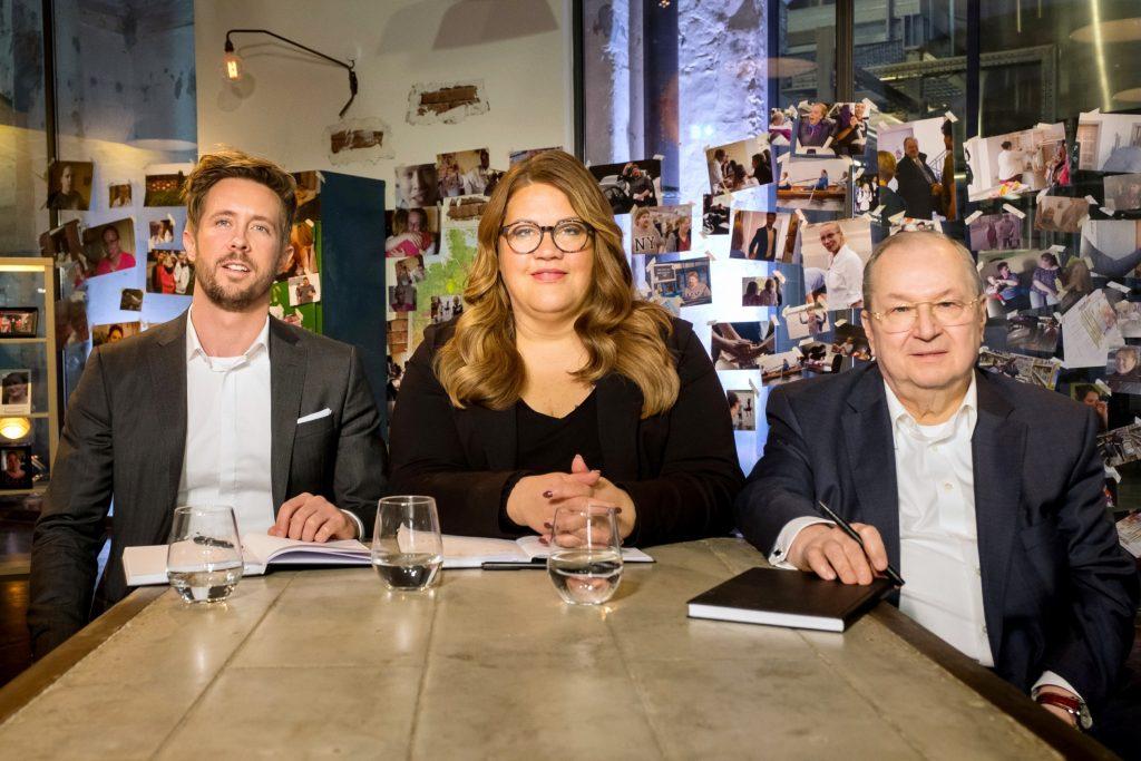 V.l.: Gründungsexperte Felix Thönnessen (37), Ex-Hartz-IV-Empfängerin Ilka Bessin (46) und Ex-Bürgermeister des sozialen Brennpunktes Berlin-Neukölln, Heinz Buschkowsky (69).
