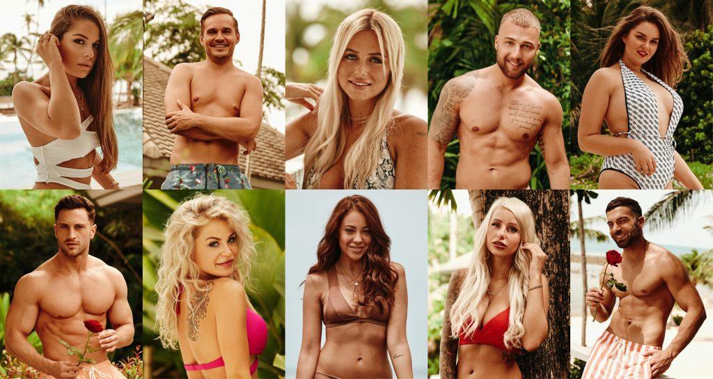 """Das sind die ersten Kandidaten der zweiten """"Bachelor in Paradise""""-Staffel: oben v.l.: Meike, Sören, Jade, Filip und Ernestine unten v.l.: Sebastian, Michelle, Natalie, Carina und Rafi"""