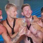 Andreas, Aaron, Lars und Dominic (v.l.) geben richtig Gas.