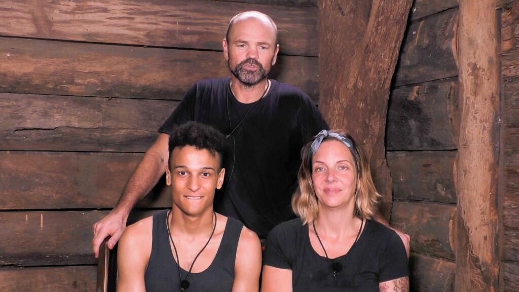 Die drei Finalisten im Dschungeltelefon: Prince Damien, Sven Ottke und Danni Büchner.