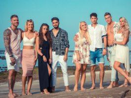 Die Paare: V.l.: Till und Hanna, Siria und Davide, Michelle und Mateo, Calvin und Pia.