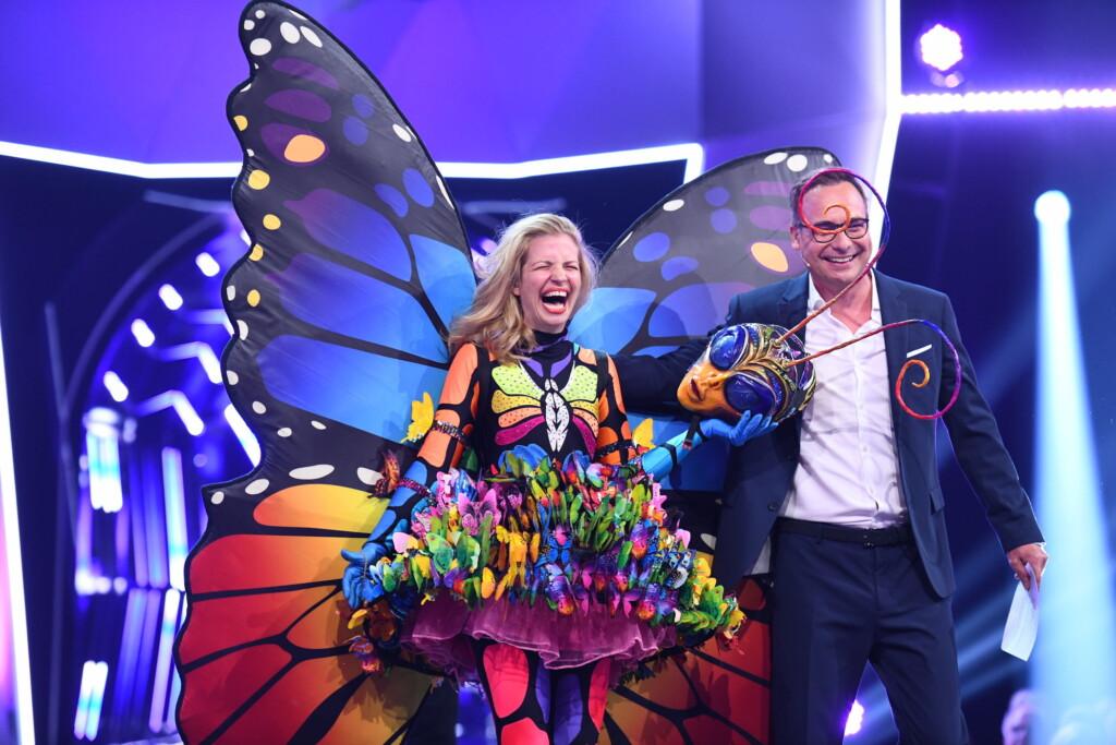 """Susan Sideropoulos und Matthias Opdenhövel in der zweiten Show von """"The Masked Singer"""" auf ProSieben."""