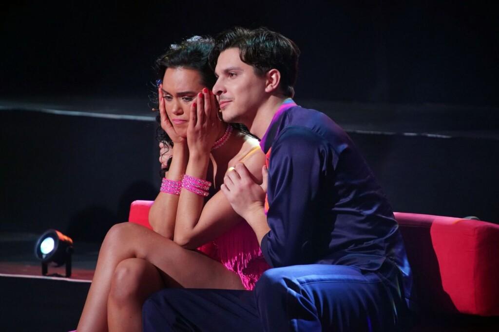 Die Entscheidung: Vanessa Neigert und Alexandru Ionel scheiden aus.