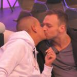 Der erste Kuss von Michelle und Philipp.