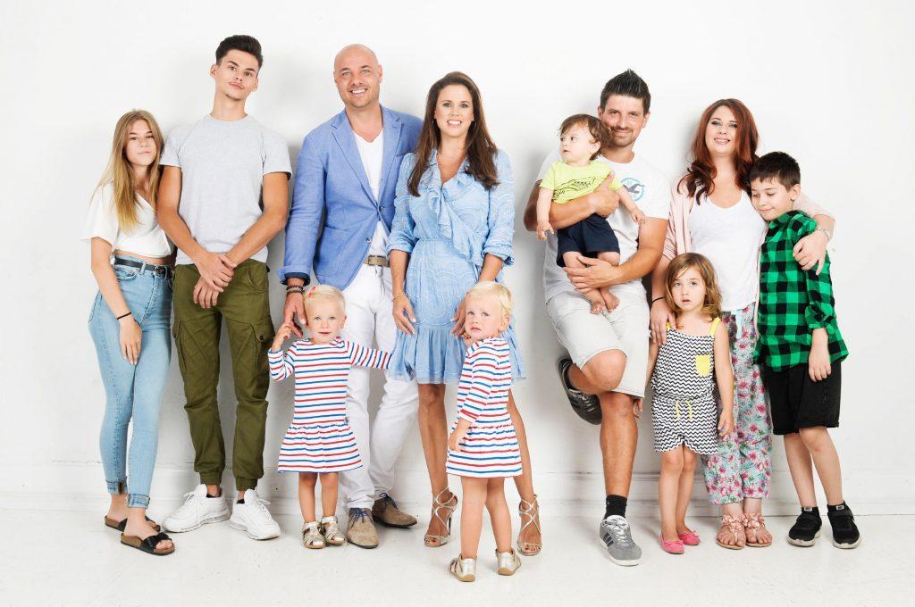 Familie Tews (l.) & Familie Schäfer/Frey