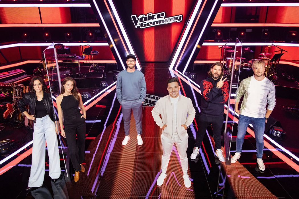 "Stefanie Kloß, Yvonne Catterfeld, Nico Santos, Samu Haber, Rea Garvey und Mark Forster suchen ""The Voice of Germany""."
