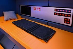 Promi Big Brother 2021 - Einzelbett in der Raumstation