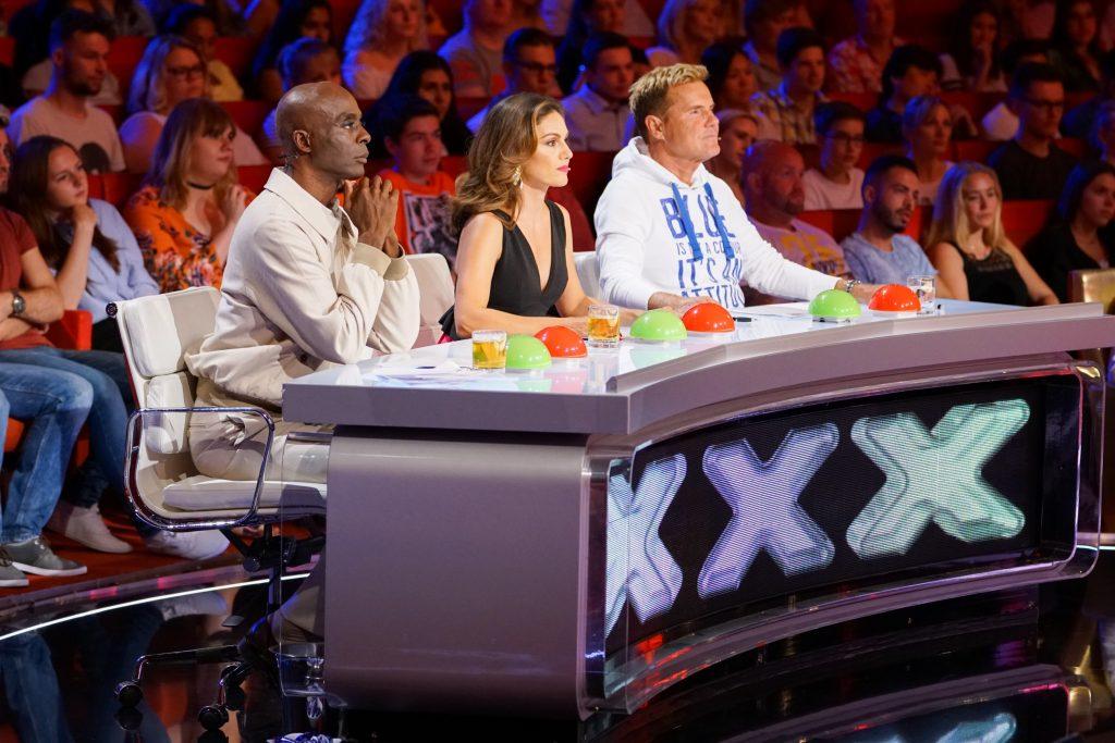 Die Jury: Bruce Darnell (l.), Nazan Eckes und Dieter Bohlen.