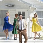 Der Bachelor 2018 Folge 2 - Claudia, Alina, Daniel und Jessica beim Fotoshooting