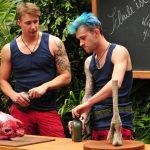 Dschungelcamp 2018 Dschungelschule - David Friedrich und Daniele Negroni