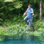 Dschungelcamp 2018 Dschungelprüfung 03 - Daniel macht eine Arschbombe ins Becken