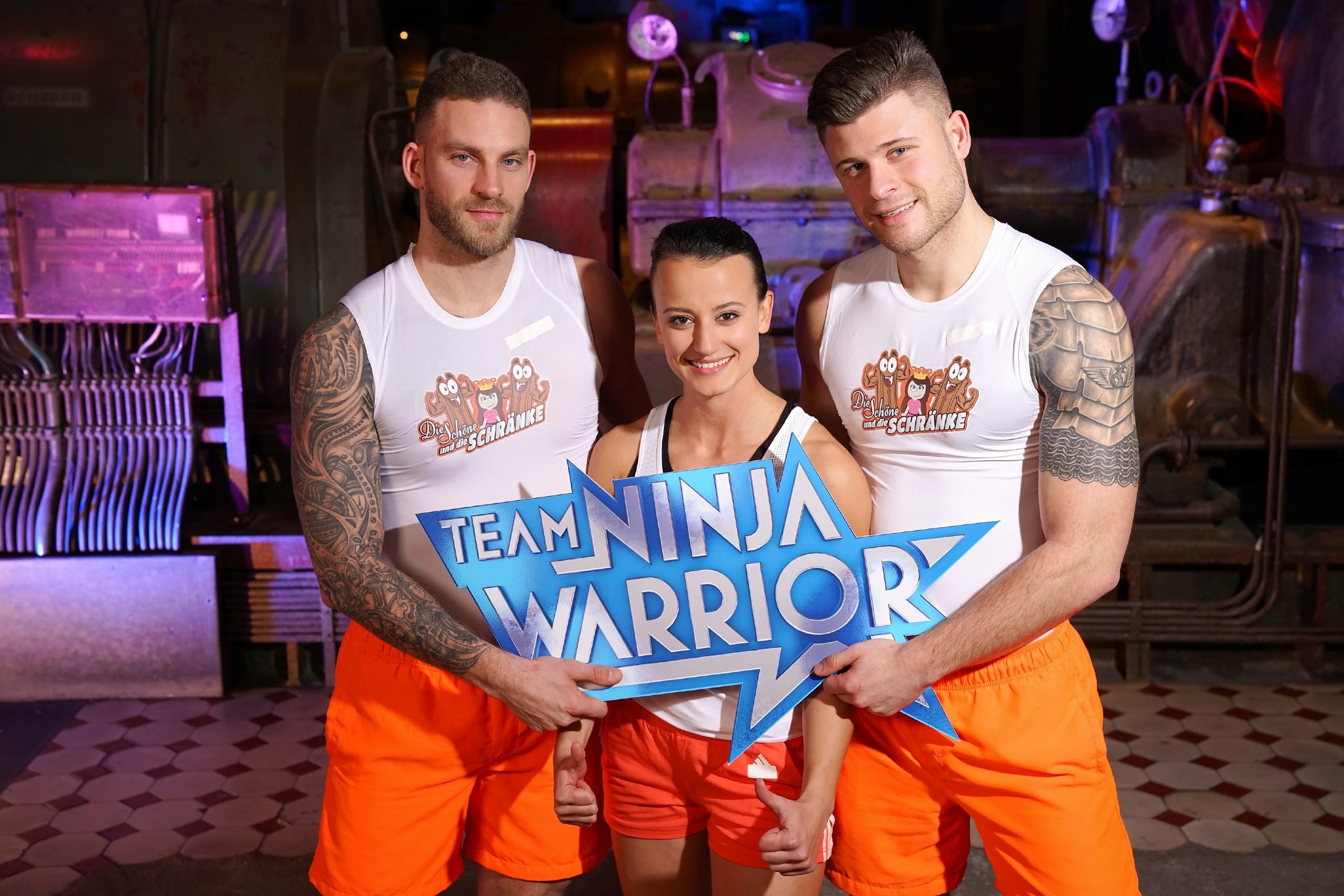 """Team Ninja Warrior – Team """"Die Schöne und die Schränke"""" mit Marko ..."""