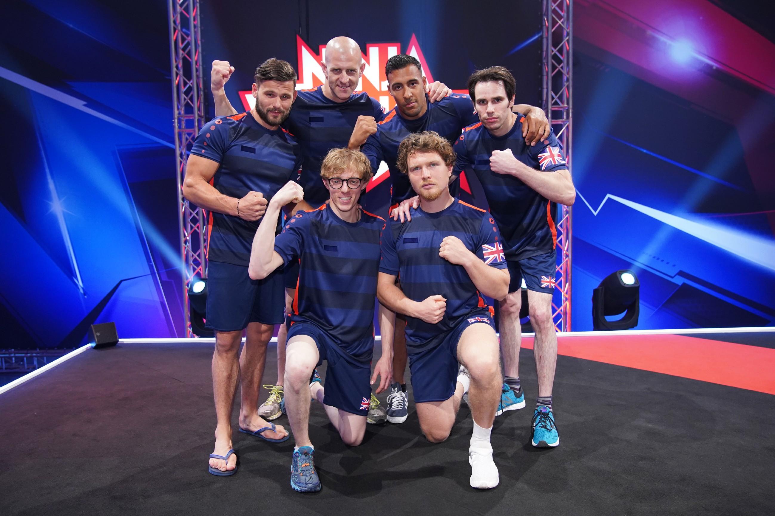 4 Nationen Special: Vorne die Teams aus Deutschland (l.) und Frankreich. Hinten die Teams aus England (l.) und Spanien.