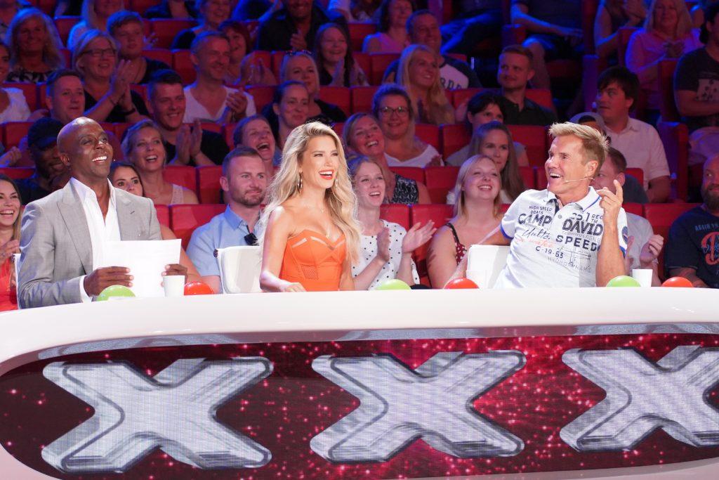 Die Jury: Bruce Darnell (l.), Sylvie Meis und Dieter Bohlen.