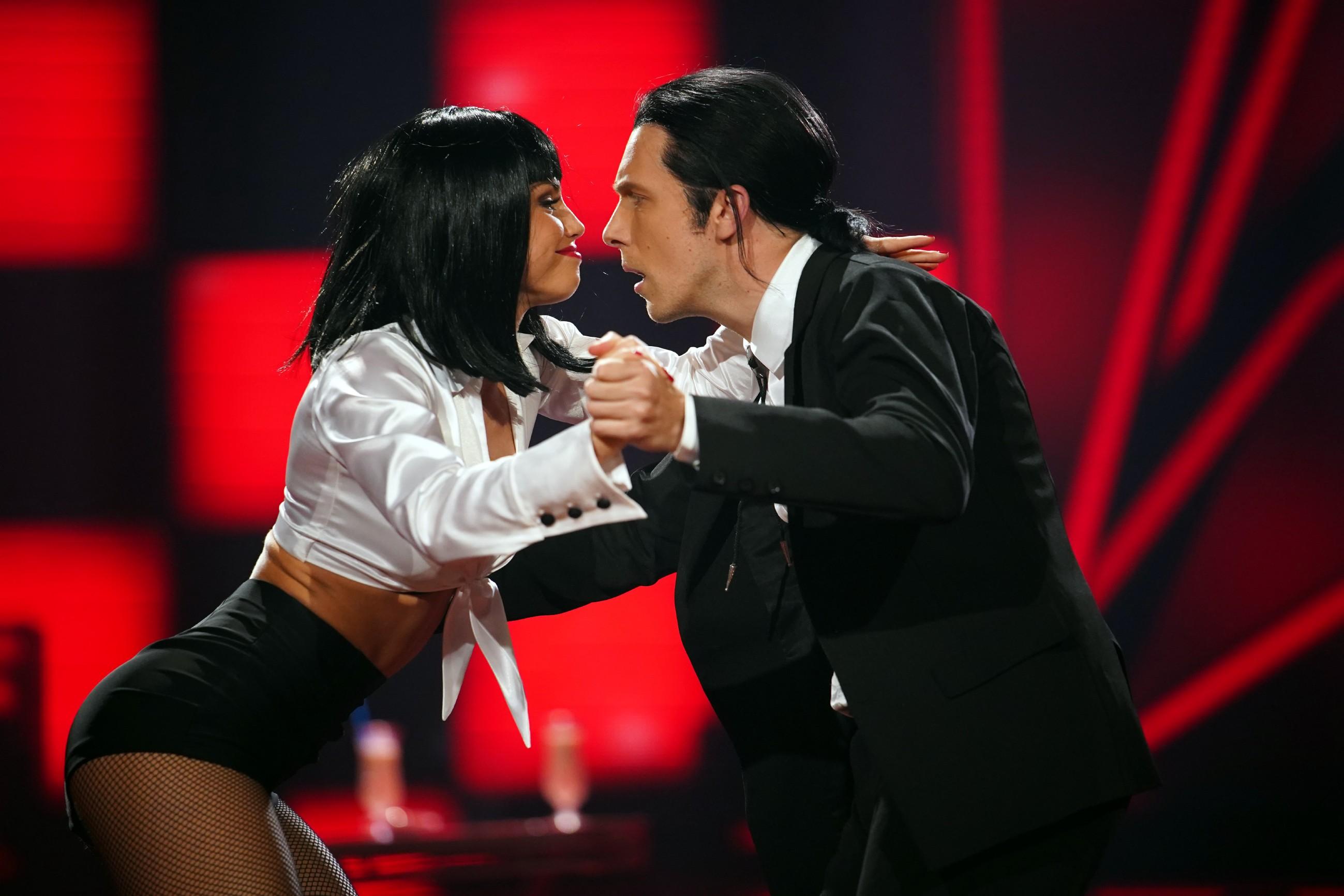 Oliver Pocher und Christina Luft tanzen Jive.