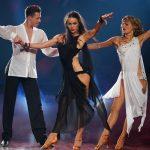 Ella Endlich und Valentin Lusin bei ihrem Trio Dance mit Renata Lusin