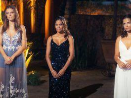 Wioleta, Desiree und Diana (v.l.) warten angespannt auf die Entscheidung des Bachelors, welche zwei Frauen in der nächsten Woche seine Mutter kennenlernen dürfen.