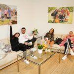 DSDS 2020 - Tamara Lara, Ricardo, Nicole und Paulina im Wohnzimmer